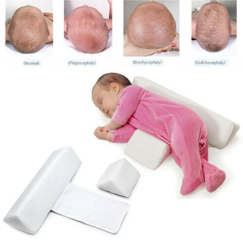 Baby Newborn Sleeping Pillow Anti Rollover Side Triangle Positioning Shaping