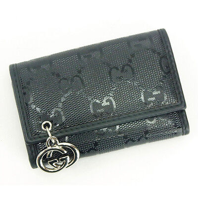 Auth GUCCI key holder GG Imprim ladies used Y4897