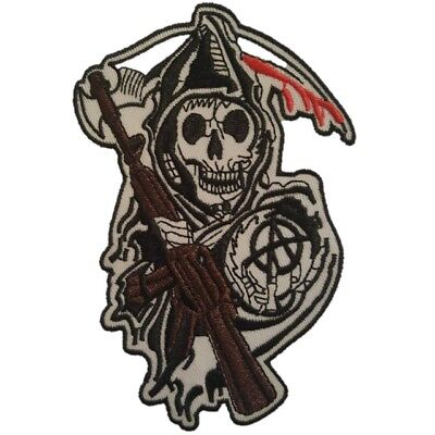 Sons Of Anarchy Patches (Sons of Anarchy SAMCRO Reaper Logo Crest Iron on Patch Brand New Sew on)