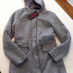 BRAND NEW - WOMEN'S QUILTED JACKET, SIZE MEDIUM, GREY