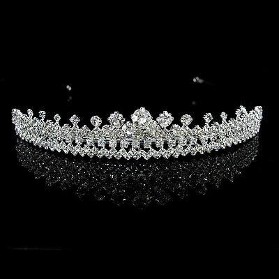 Voll Strass Königin Hochzeit Braut Haarschmuck Haarreif Krone Diademe Tiara ()