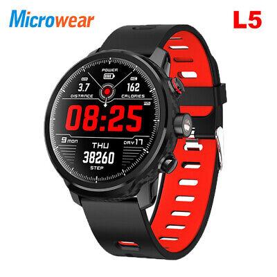 "Original Microwear L5 Smart Watch 1.3"" Heart Rate Monitor IP68 Waterproof BT 4.0"
