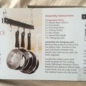HANGING POTS AND PANS RACK - BRAND NEW.