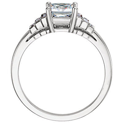 1.01 carat GIA Round cut Diamond Engagement H color SI2 14k White Gold Ring 1