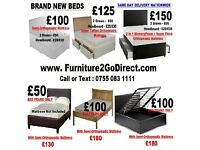 Modern new bed frame with mattress