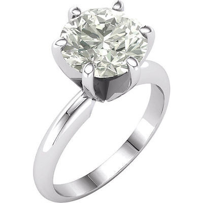 3CT Moissanite Round Brilliant Cut Engagement Ring 14k White Gold