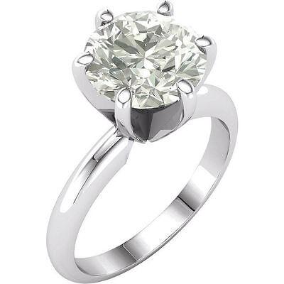 3CT Moissanite Round Brilliant Cut Engagement Ring 14k White Gold