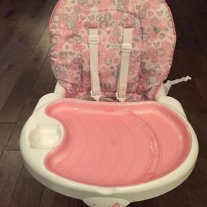 Safety First Pink Feeding/Booster Chair