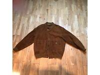 Mens Tan Seude Jacket XL (in excellent condition)