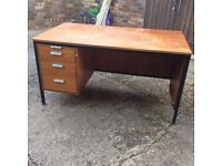 3 used office desks for sale as one lot. Cheap practical solution for office work