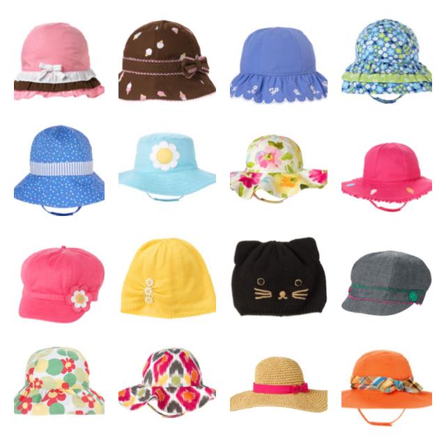 Gymboree Baby Hat Newborn 0-3-6-12-18-24 Sun Beach Hat Knit