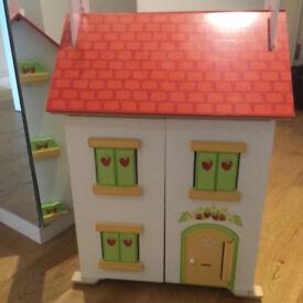 Dolls House Wooden Cottage