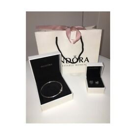 Pandora Bracelet and Charms Never Been Worn!