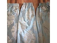 X3 Pairs of Next lined curtains & 2 matching cushions.