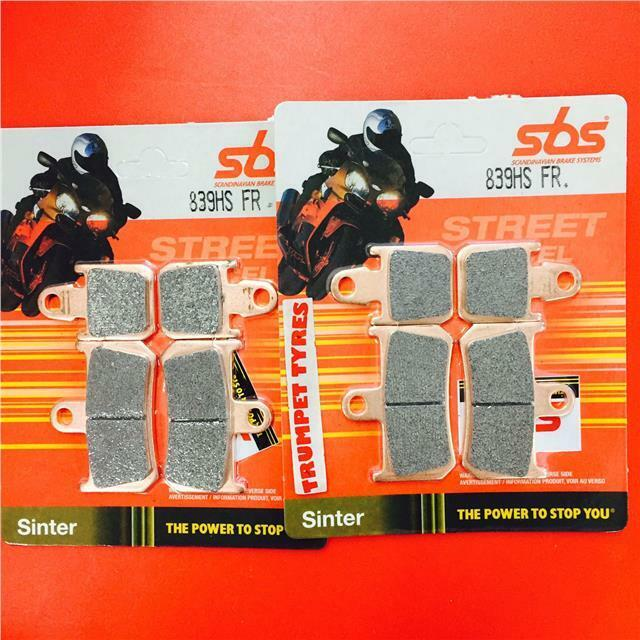 SBS HS Sinter Street Front Pads Suitable for Yamaha YZF R1 2004