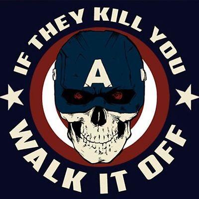 CAPTAIN AMERICA Steve Rogers Civil War Winter Soldier Avenger Mens T-Shirt M-2XL - Captain America Winter Soldier Shirt