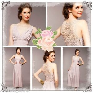 8933 BNWT SEXY BRIDESMAIDS COCKTAIL WEDDING PARTY MAXI LONG EVENING DRESS SZ 8