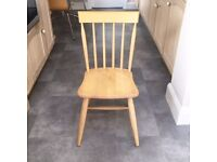 REDUCED PRICE x 4 Lovely beech farmhouse kitchen chairs. Bargain price for a quick sale!