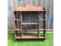 Vintage wooden shelf for decoration and display
