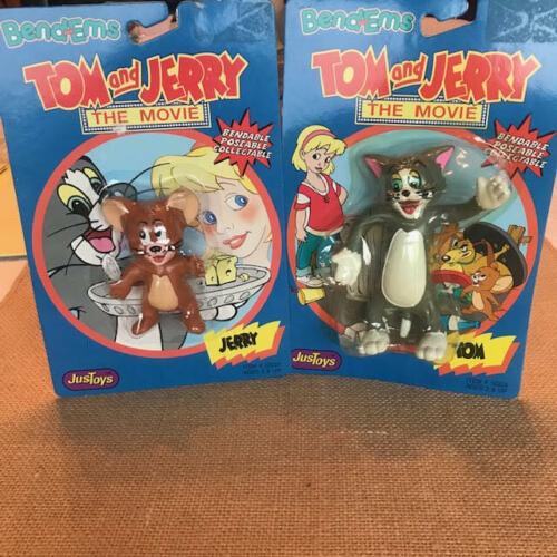 Rare & Vintage Tom & Jerry (2) Bend-Ems Mint onCard ~ Circa 1992 ~