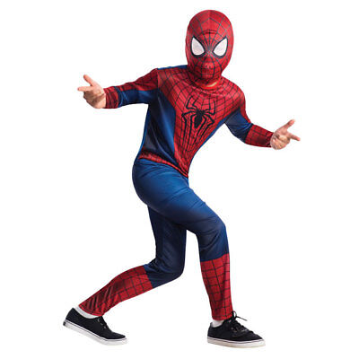 RUBIE'S THE AMAZING SPIDERMAN 2 CHILD COSTUME SET JUMPSUIT MASK BOYS LARGE 19286