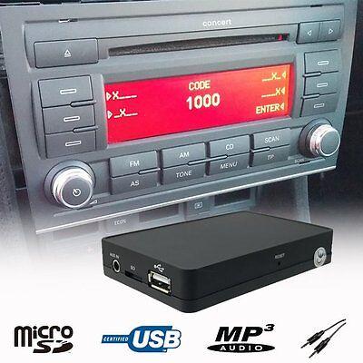 Car Stereo USB AUX SD MP3 CD Changer Adapter -Audi A4/B7 TT/MK2 A3 2007-2012
