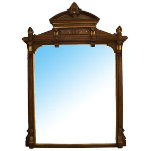 7104-Renaissance-Revival-Carved-Walnut-Overmantel-Mirror