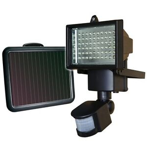Motion activated outdoor light ebay sunforce 60 led solar powered motion activated flood light 850 lumens 82156 aloadofball Images