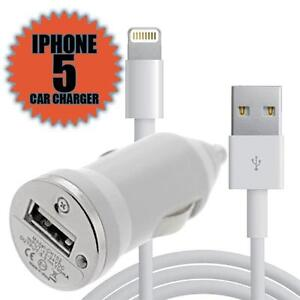 2 IN 1 iPHONE CAR CHARGER + USB DATA CABLE CHARGE FOR IPHONE 5 5G IPOD TOUCH 5