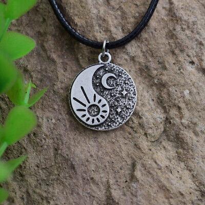Halskette collier Sonne Mond Sterne Anhänger Minimalist Yin Yang Tiny spirituell (Sonne Halskette)