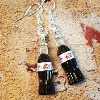 Unique DIET COKE BOTTLE EARRINGS miniature COCA COLA handmade RETRO vintage COOL