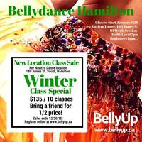 Bellydance classes start January 11th & 12th!