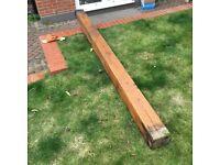 OAK BEAM / POST - 9ft long! - 5.5 inch square