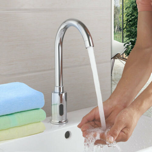 Automatic sensor touchless bathroom kitchen faucet mixer black swivel tap ebay - Automatic kitchen faucet ...