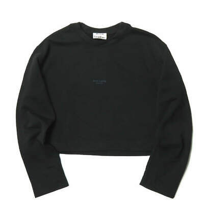 Acne Studios Reverse logo sweatshirt M black trainer Pullover oversize tops