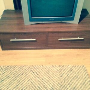 TV and gaming table with deep drawers
