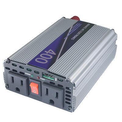 - MCS 400w / 800watt 12v DC vdc to 110 vac 120 v volt AC car truck power inverter