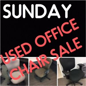 USED OFFICE CHAIR SALE FROM $25. SUNDAY AUGUST 12