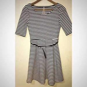 Black and white striped Ally dress size small Seymour Mitchell Area Preview