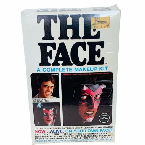 Halloween Mask costume decoration vtg Imagineering The Face makeup kit devil red