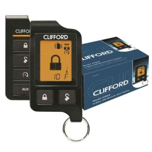 Clifford Matrix 4706X Super Code 2-Way Responder LC3 Remote Start System LCD Rem