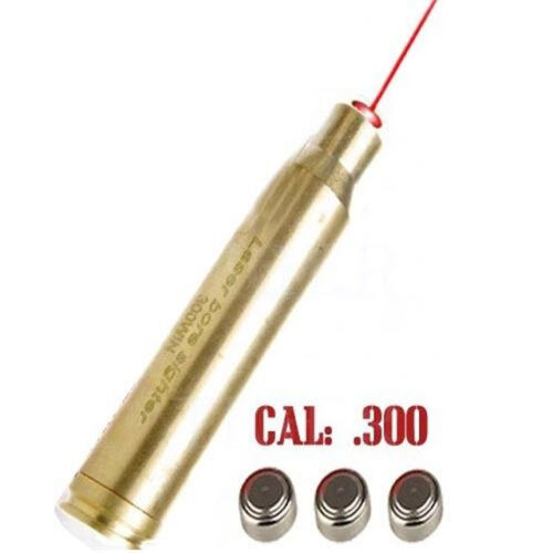 US 300WIN MAG Cartridge Bore Boresighter Red Laser Sight Caliber for Rifle Hunt