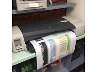HP Designjet large format colour printer