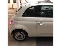 Fiat 500 white 2010