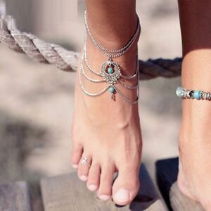 BRAND NEW Complete Pair of Silver Turquoise Foot Jewelry Kitchener / Waterloo Kitchener Area image 9