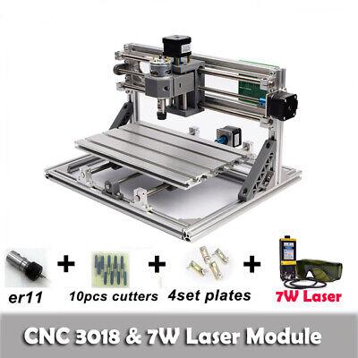 Cnc 3018 Engraving Router Carving Milling Cutting Diy Machine7w Laser Module Us