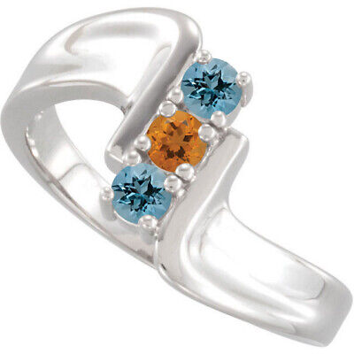 Family Ring Jewelry (Family Mother's Ring Sterling Silver 1 to 5 Birthstones, Moms Jewelry )