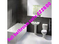 Complete bathroom suite 1700 bath brand new