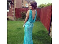 Blue lace prom/evening dress