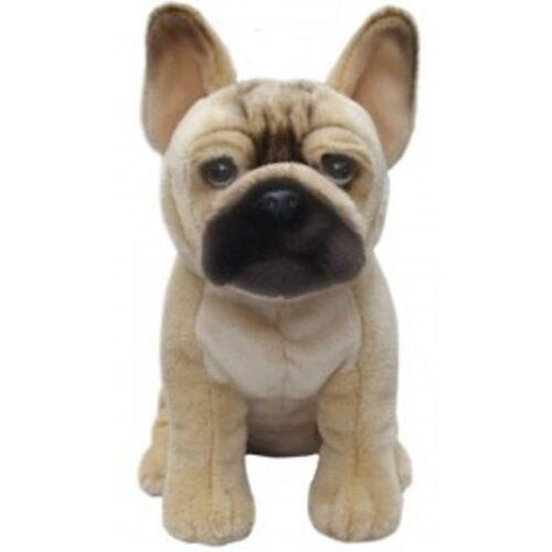 Realistic French Bulldog Cuddle Soft Plush Toy Stuffed Animal Dog Lovers 30 cm